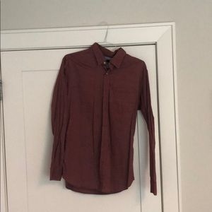 Large slim fit banana republic casual button down